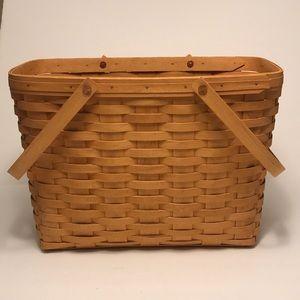 Longaberger Large Basket with Handles Alp 1999
